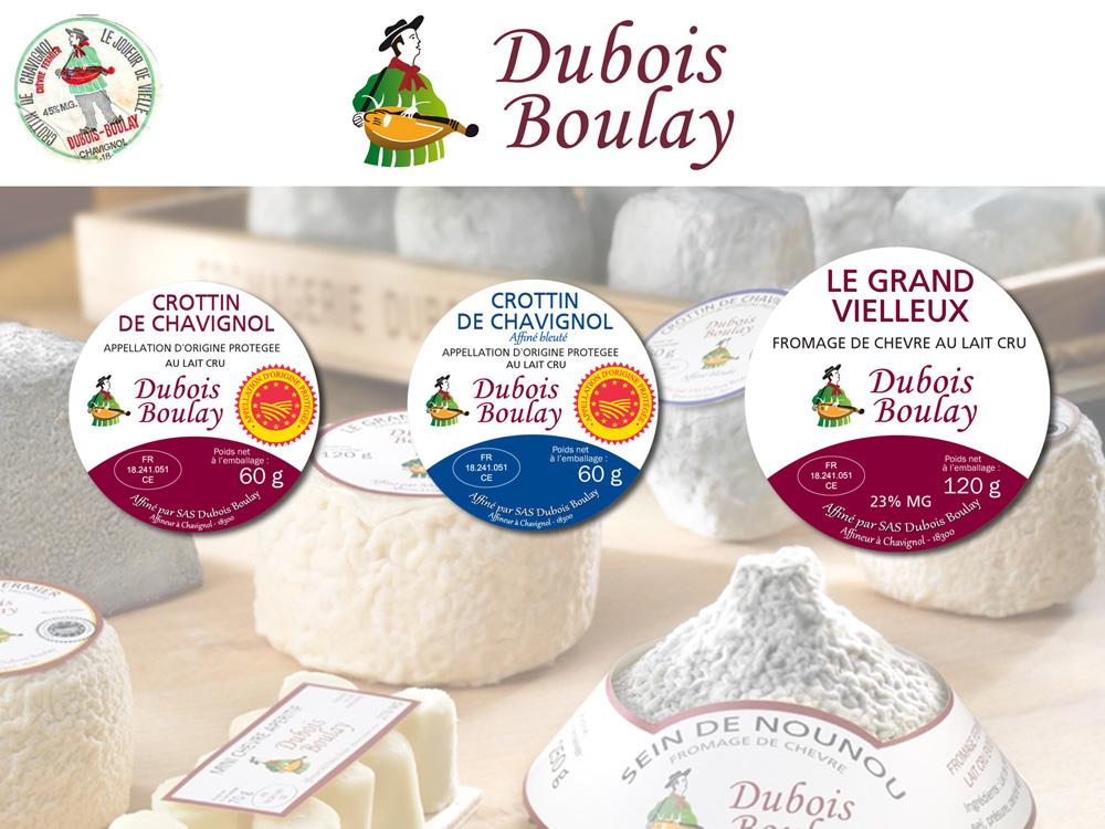 Dubois Boulay : Création des étiquettes de fromages