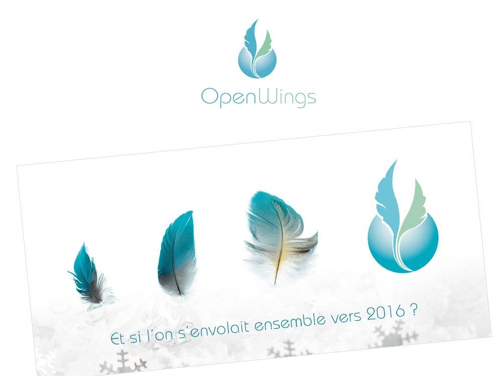open wings logo et charte graphique